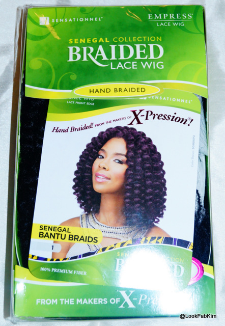 Senegal Collection Braided Lace Wig packaging