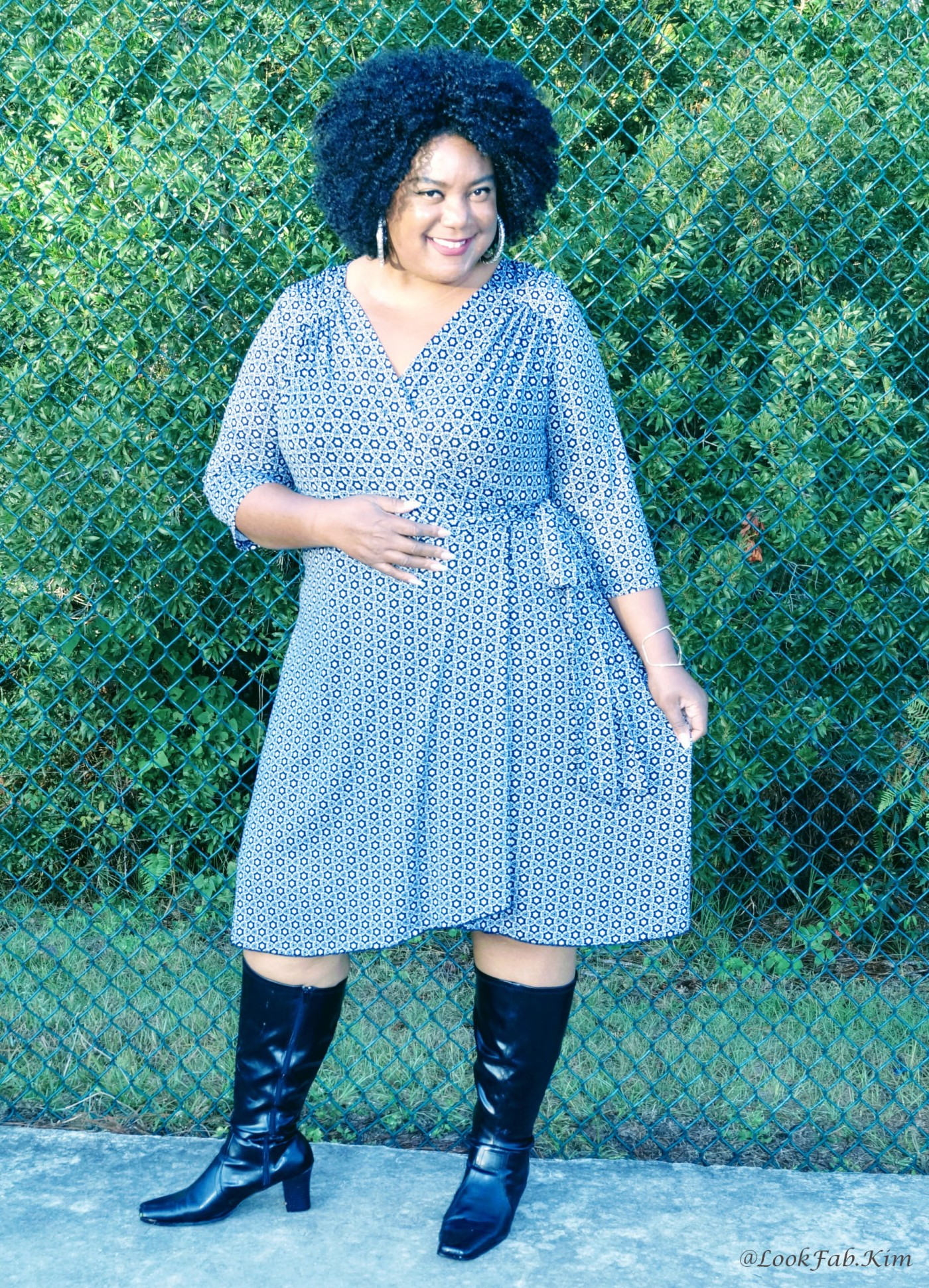 Plus Size Woman's Wrap Dress