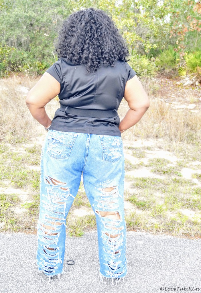DIY RIPPED BAGGY JEANS BACK VIEW