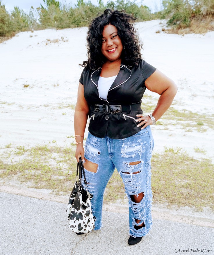 DIY RIPPED BAGGY JEANS