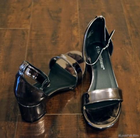 Bronze Classic Block Heel Sandal