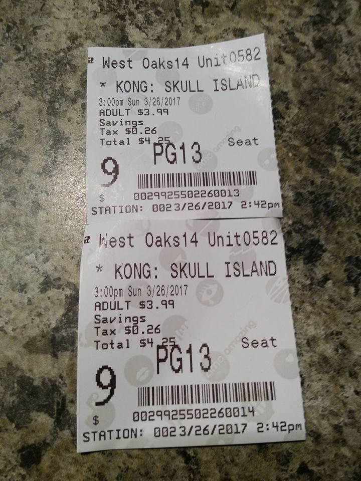 King Kong Skull Island Tickets
