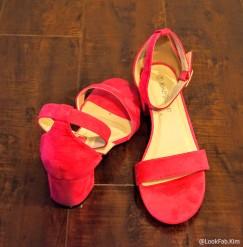 Pink Classic Block Heel Sandals