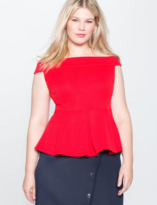 Plus Size Off the Shoulder Peplum Top